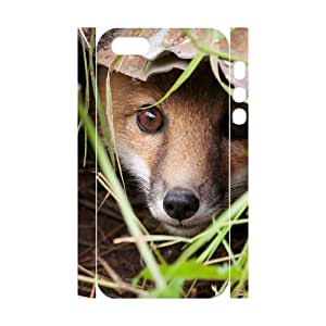 Iphone 5,5S 3D Personalized Phone Back Case with Fox Image