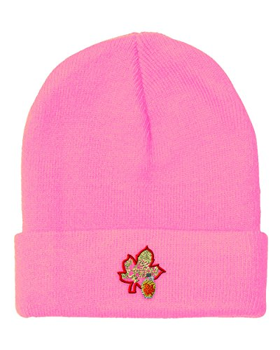 Sugar Pink Hat - Speedy Pros Sugar House Farm Embroidery Unisex Adult Acrylic Beanie Skully Hat - Soft Pink, One Size