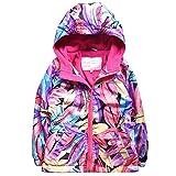 Hooded Jacket Girls Winter Waterproof Kid Raincoat Softshell Fleece Wind Outwear
