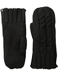 Women's Chunky Cable Knit Sherpasoft Mittens