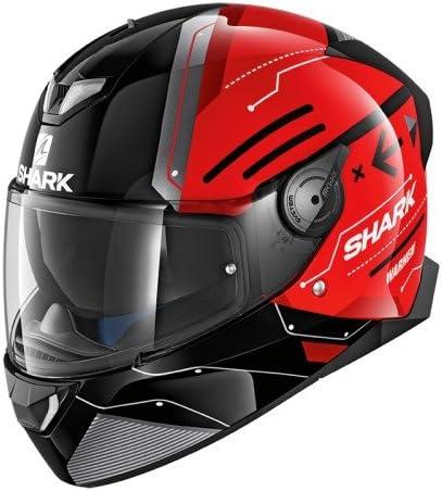 Noir Shark Casque Moto SKWAL 2 WARHEN Mat KAK Taille L