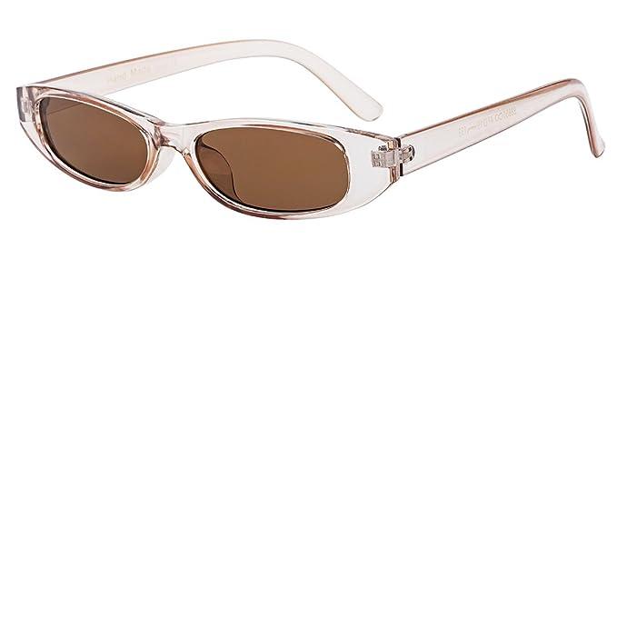 Amazon.com: buauty rectangular pequeño marco anteojos de sol ...