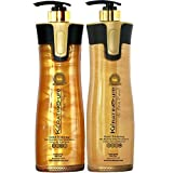 Keratin Cure -Color & Keratin Safe -SULFATE FREE- Shampoo & Conditioner #3 #4 Set Bio-Brazilian Post Daily Use -Gold & Honey 960ml / 32.5 fl