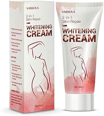 Underarm Whitening Cream, Skin Lightning Cream - Lighten & Brighten Armpit, Bikini, Elbow, Private and Sensitive Areas (60mL)