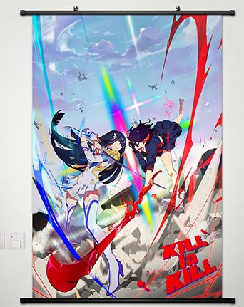 Home Decor Anime KILL la KILL Cosplay Wall Scroll Poster Sat