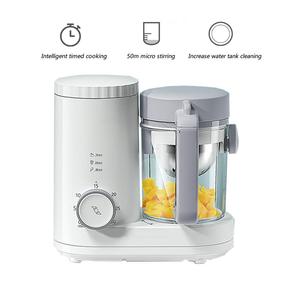 XXM Baby Food Supplement Mixer,Multi-Function Cooking and Mixing Machine Intelligent Electric Food Machine Grinder