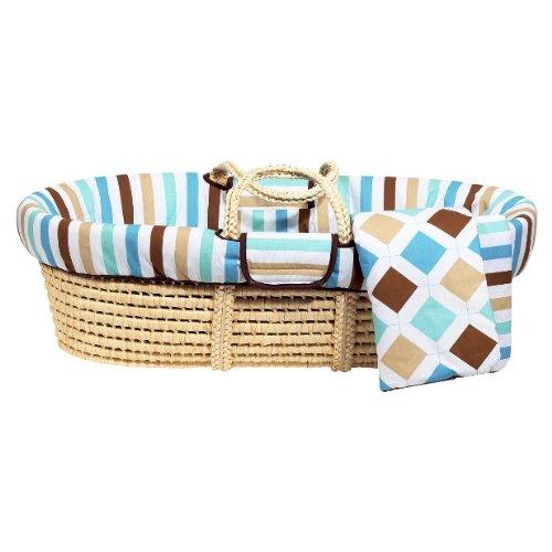Bacati - Diamonds & Stripes Moses Basket