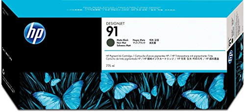 HP HEWC9464A 91 Pigment Ink Cartridge, Matte Black (91 Hp Printer Ink)