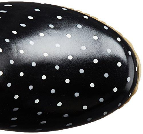 Chooka Damen Packable Regenstiefel Klassischer Punkt Schwarz