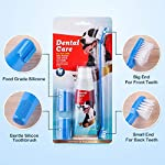 CooZero Dog Dental Care Kit, 2 Pack Dog Toothpaste and Dog Toothbrush Set Pet Soft Toothbrush Dog Finger Toothbrushes Pet Toothbrush for Cats and Dogs - Small to Large Dogs 10