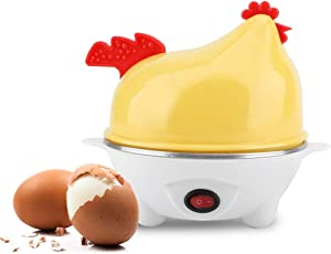 Electric Egg Cooker, Plastic Multifunctional Electric Chick-pattern Egg Boiler Breakfast Cooker Kitchen Rapid Poacher Automatic Temperature Control