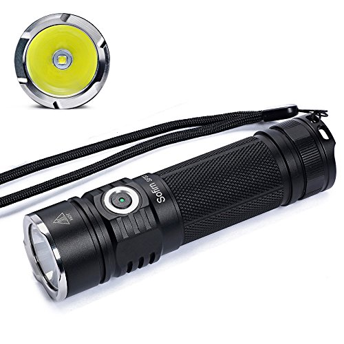 Sofirn 1080 High Lumens LED Flashlight Bright CREE XP-L LED Portable Outdoor Torch 6 Light Modes Water-resistant IP68 Rechargeable (26650 Or 18650 Battery Excluded) for Camping Emergency Self-defense