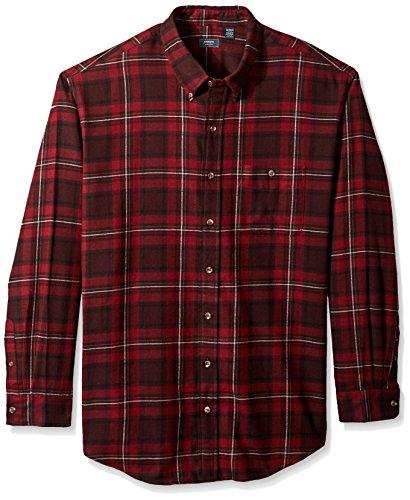Arrow Men's Big and Tall Long Sleeve Plaid Flannel Shirt, Chocolate Truffle, 2X-Large -