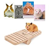 Funny Small Animal Pine Seesaw Palyground Products Natural Wood Seesaw For Mouse &Hamster& Chinchillas&Guinea Pigs by Awtang