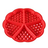 1x Waffle Mold Maker Silicone Pan Chocolate Mold 5-Cavity Cool Handy Safe