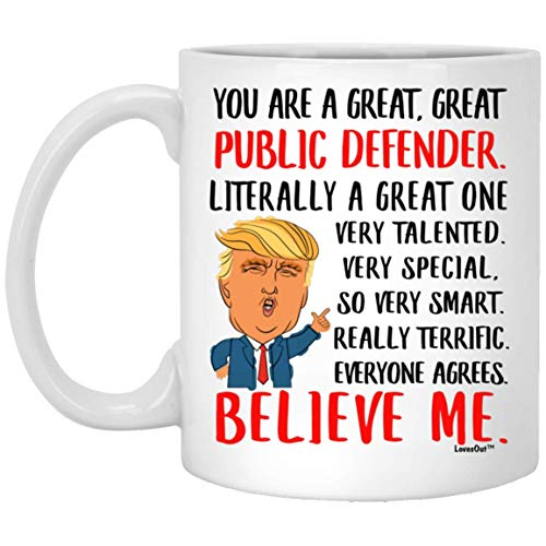 Great Public Defender Gifts for Birthday Ideas, Funny Mugs for Coworkers, Christmas Presents for Men Women Coffee Cup White 11oz
