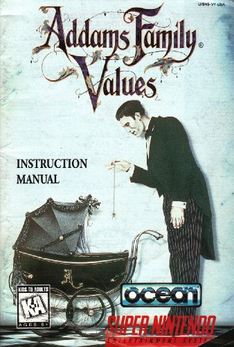 Addams Family Values SNES Instruction Booklet (Super Nintendo Manual Only) (Super Nintendo Manual)