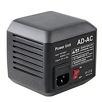 Image of Godox AD-AC Power Source Adapter Unit with 5M Cable for Godox AD600 AD600M AD600B AD600BM Flashpoint XPLOR 600 Flash + CEARI Microfiber Cloth Battery Packs