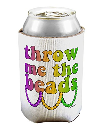 TooLoud Throw Me The Beads - Mardi Gras Can/Bottle Insulator Cooler - 1 -