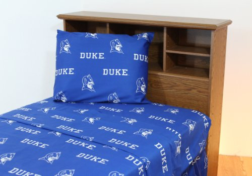 Duke Printed Sheet Set King - Solid - DUKSSKG by College Covers