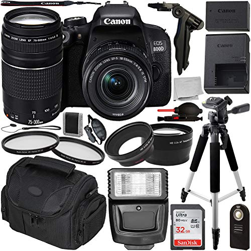 Canon EOS 800D DSLR Camera with 18-55mm is STM & 75-300mm