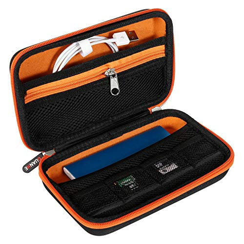 NEXGADGET Organizador de Viaje Bolsa Portable con Compartimentos para Accesorios Electrónicos para Móvil, Disco Duro...
