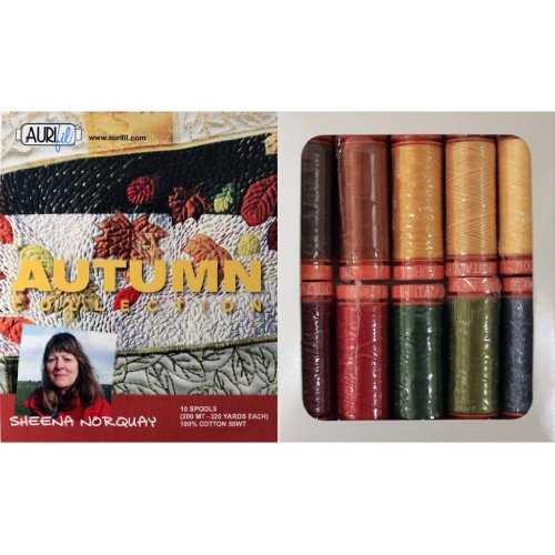 Aurifil Thread Set AUTUMN COLLECTION By Sheena Norquay 50wt Cotton 10 Small (220 yard) Spools by Aurifil