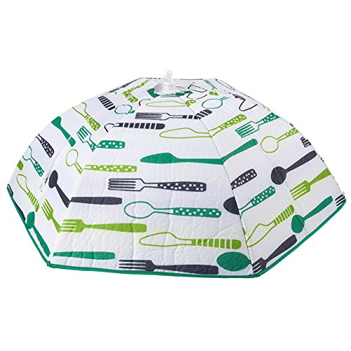 Food Cover - Portable Thermal Pop-Up Food Cover, Collapsible Food Tent, 26 x 9.7 x 22.7 Inches