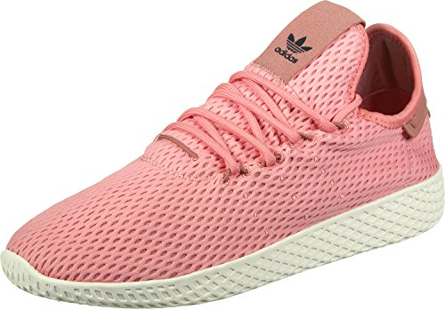 Adidas Originals Pw Tennis Hu Heren Trainers Sneakers (uk 3,5 Ons 4 Eu 36, Roze Witte By8715)