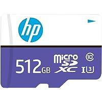HP 512GB mx330 Class 10 U3 microSDXC Flash Memory Card, Read Speeds up to 100MB/s (HFUD512-1U3PA)