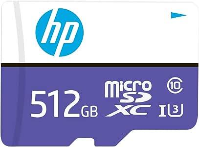 HP 512GB MX330 Class 10 U3 MicroSDXC Flash Memory Card, Read Speeds up to 100MB/S (P-SDU512U3100HPMX-GE)