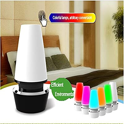 USB Rechargeable 6 Colors Dimmable LED Touch Sensitive Control Desk Lamp Light for Living Room, Bedroom, Study Room and More