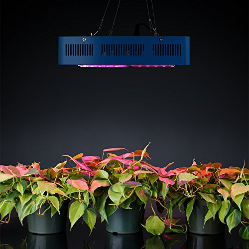 51NJnhmr6zL - Sandalwood 300W Dual Mode LED Grow Light for Hydroponic Garden and Greenhouse Use - Dual Grow / Bloom Spectrum