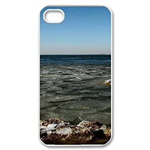 SYYCH Phone case Of Beautiful Seaside Scenery Cover Case For Iphone 4/4s