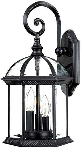 Acclaim 5273BK Dover Collection 3-Light Wall Mount Outdoor Light Fixture, Matte Black