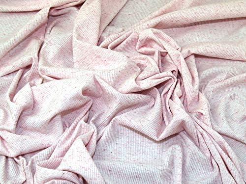 Minerva Crafts - Tela de punto (algodón, por metro), color rosa ...