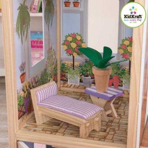 51NJnuzSkGL - KidKraft So Chic Dollhouse with Furniture