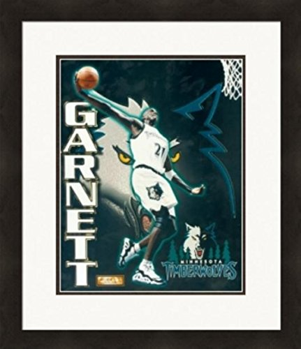 Kevin Garnett unsigned 8x10 photo (Minnesota Timberwolves) Image #2 Collage Matted & Framed