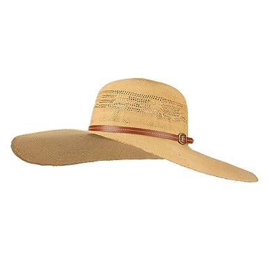 Women s Paper Braid Woven Sun Hat - Brown OSFM at Amazon Women s ... 925b89bc094
