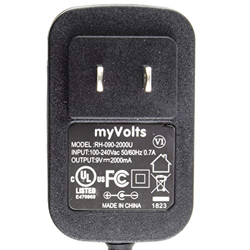 MyVolts 9V Power Supply Adaptor Compatible with Dymo LabelPOINT 300 Label Printer - US Plug by MyVolts (Image #2)