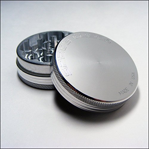 Small Space Case® Aluminum Grinder 2 Piece Magnetic Top + C