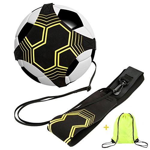 allsprint Soccer Trainer, Football Kick Throw Solo Practice Training Aid Control Skills Adjustable Waist Belt for Kids Adults