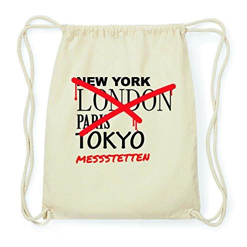 JOllify MESSSTETTEN Hipster Turnbeutel Tasche Rucksack aus Baumwolle - Farbe: natur Design: Grafitti
