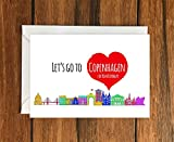 Lets go to Copenhagen for your Birthday greeting card A6