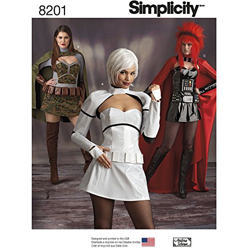 Simplicity 8201 Misses' Cosplay Costumes, R5 (14-16-18-20-22)