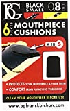 BG A10S Small Mouthpiece Cushion - Black, 6 Pack