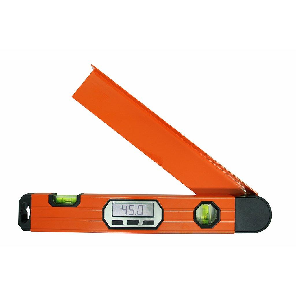 BGS Winkel messen Digitaler LCD Winkelmesser mit Wasserwaage Gradmesser 450 mm