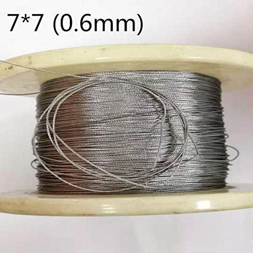 Without brand 50M 0.6mm 304 Edelstahl-Drahtseil-Kabel Weichere Angeln Hubseil 7X7 Struktur (Größe : 0.6mm 50M)
