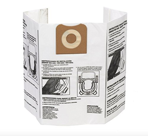 Ridgid VF3502 High Efficiency, Dry Pickup Dust Bags for 12-16 Gallon Ridgid Wet/Dry Vacuums (2 X Pack of 2) by Ridgid (Image #1)