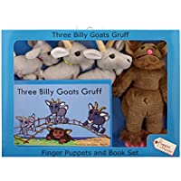The Puppet Company - Traditional Story Sets - Three Billy Goats Gruff & Troll Finger Puppet Set